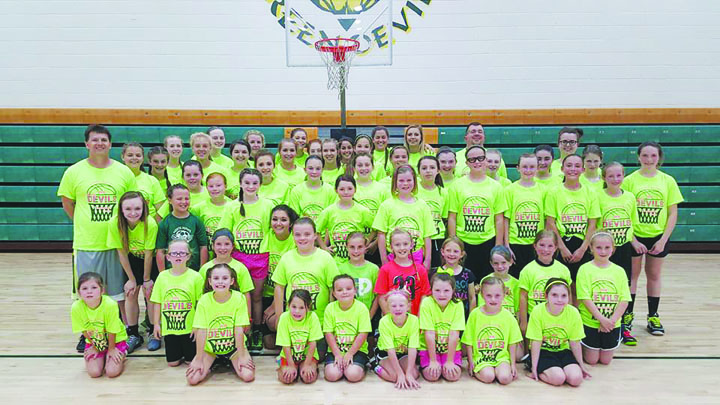 Coach Rob Davis and his staff held their annual Girls Basketball Camp from May 23-25 at North Adams High School. Photo by Mark Carpenter.