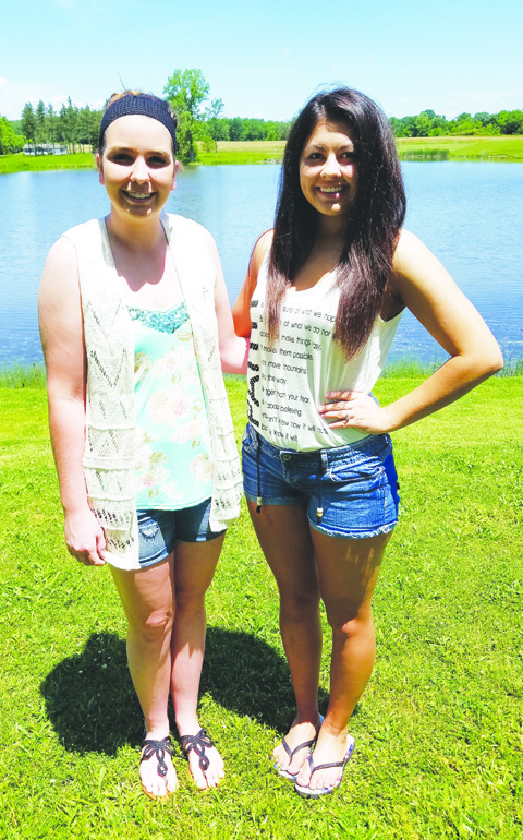 Jade Spriggs from North Adams High School, left, and Kristen Grooms from West Union High School, right,  are the 2016 recipients of the Young Memorial Scholarships.
