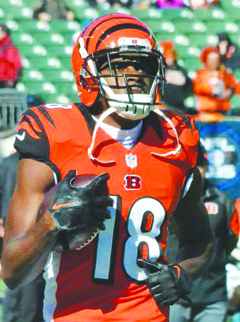 All-Pro wide receiver A.J. Green returns to anchor the Bengals' receiving corps.
