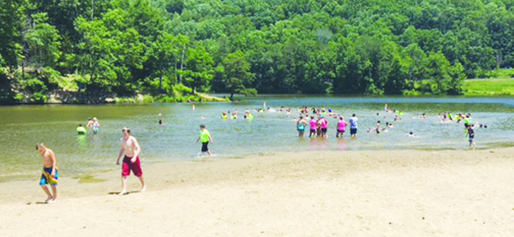 Many outdoor activities are part of the Summer R.E.C., as the participants are shown here swimming at Shawnee State Park.