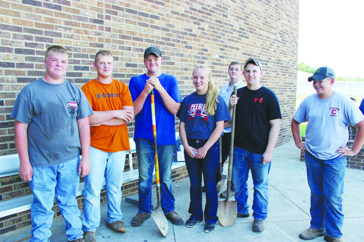 These hard-working and dedicated FFA members from Adams County schools were an integral part of the process of preparing for the annual Junior Fair Beef BBQ.