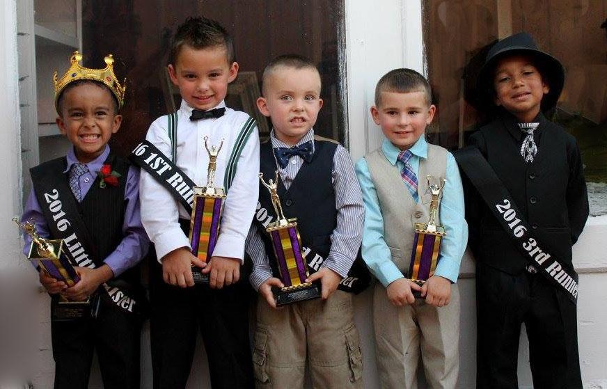 Here are the winners in the Seaman Fall Festival Little Mister Contest. From left, Little Mister CJ Boner (son of Ashley Chaney),First Runner-Ip Jax Kingsley (son of Nick and Jennifer Kingsley), Second Runner-Up Lyric Ramsey (son of Jonathan and Feleshia Ramsey), Third Runners-Up (tie) Sam Covert (son of Nathaniel and Lauren Covert) and Joseph Foreman, Jr. (son of Joseph and Angie Foreman).