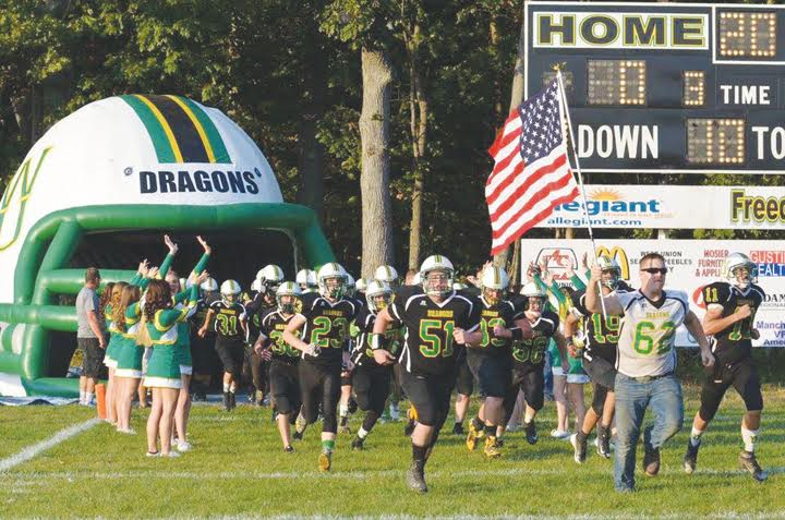No one was kneeling at Freedom Field last Friday night as the Stars and Stripes led the West Union Dragons on to the field for their Homecoming battle with Eastern Brown.