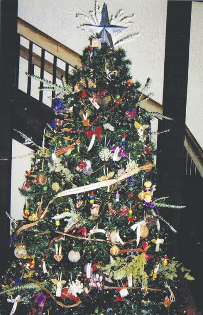this herbal christmas tree decorated by the ladies of the adams county herb